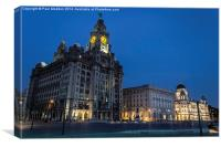 The Three Graces at night, Canvas Print
