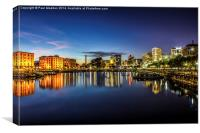Salthouse Dock At Sundown, Canvas Print