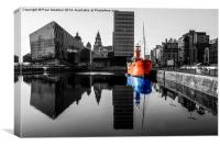 Canning Dock Red And Blue, Canvas Print