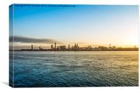 Sunrise over liverpool, Canvas Print