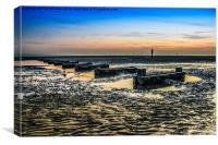Crosby Beach at dusk, Canvas Print