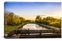 Top of the locks, Canvas Print