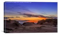 Sand Dunes Sunset, Canvas Print