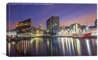 Canning Dock at night, Canvas Print