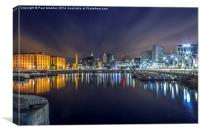 Salthouse Dock - Liverpool, Canvas Print