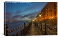 Albert Dock promenade, Canvas Print