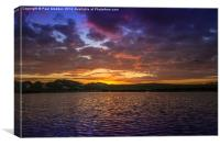Sunset over the boating lake, Canvas Print
