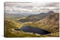 Snowdon looking down, Canvas Print