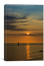 Crosby Beach Summer Sunset, Canvas Print