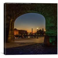 Albert Dock Archway, Canvas Print