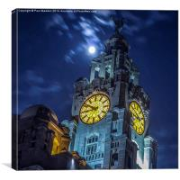 Top of the Liver Building, Canvas Print