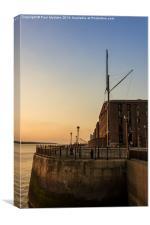 Albert Dock Promenade at sunset, Canvas Print