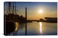 Canning Dock Sunset, Canvas Print