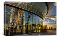 Sunset through the arena, Canvas Print