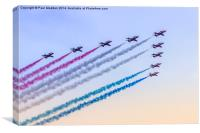 RAF Red Arrows, Canvas Print