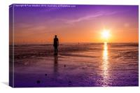 Tranquillity at Crosby Beach, Canvas Print