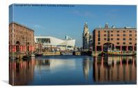 Albert Dock In The Morning Sun, Canvas Print