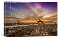 Lancasters leaving Liverpool, Canvas Print