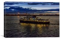 Royal Iris Mersey Ferry at twilight, Canvas Print