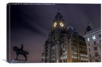 Liver Building and guard, Canvas Print