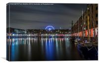 Albert Dock at night, Canvas Print