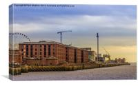 Albert Dock from the River Mersey, Canvas Print