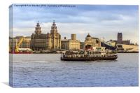 Ferry cross the Mersey, Canvas Print