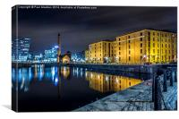 Canning Dock and Albert Dock, Canvas Print