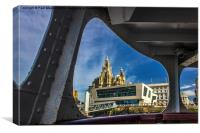 Liver building from the Mersey Ferry, Canvas Print