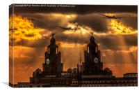 Warbirds and Liver Birds, Canvas Print