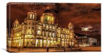 Port Of Liverpool Building At Night, Canvas Print
