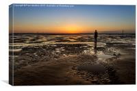 Crosby Beach Sunset, Canvas Print