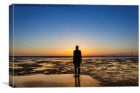 Sunset from the beach, Canvas Print