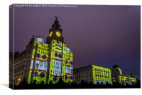 Liver Building Yellow Submarine Projection, Canvas Print
