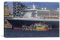 The Queen and the Dazzle Ferry, Canvas Print