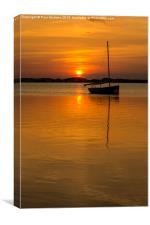 Golden skies, Canvas Print