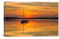 Golden lake, Canvas Print