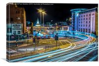 Lit-Up Liverpool, Canvas Print