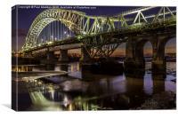 Runcorn Bridge At Night, Canvas Print