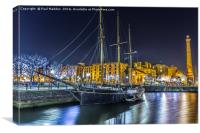 Docked for the night, Canvas Print