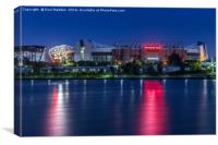 Old Trafford from Salford Quays, Canvas Print