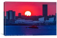 Seacombe Sunset, Canvas Print