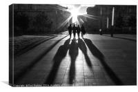 Shadows of the Beatles, Canvas Print