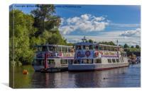 Showboats, Canvas Print