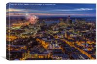 Liverpool from the cathedral, Canvas Print