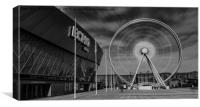 Spinning wheel of Liverpool, Canvas Print