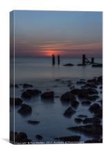 Crosby Beach after the sunset, Canvas Print