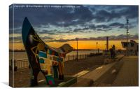 A Scouse Stand-Off At Dusk, Canvas Print
