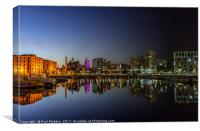 Salthouse Dock - Sunset to midnight, Canvas Print