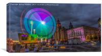 Thrill seekers at the Pier Head, Canvas Print